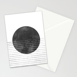 Abstract black sun Stationery Cards
