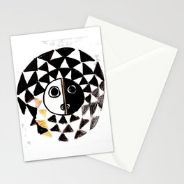 African Sun Mask Stationery Cards