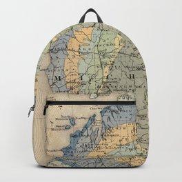 Vintage Michigan Geology Map (1873) Backpack