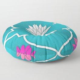 Waterlily Pattern Moroccan Style\ Prana Lotus Flower Floor Pillow