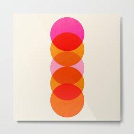 Abstraction_COLOUR_CIRCLES_001 Metal Print