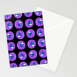 skull donuts Stationery Cards