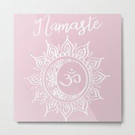 Namaste Soft Pink Metal Print