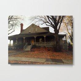 Nahant house on the ocean Metal Print