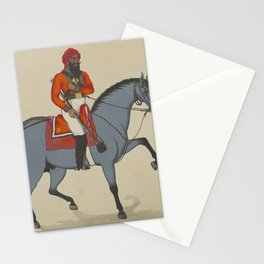 Indian WARRIOR on HORSE with Rifle Stationery Cards