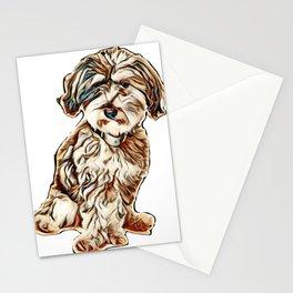breed dog mixed animal Stationery Cards