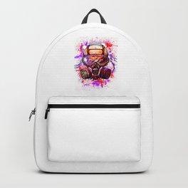 Hip Hop Hipster Gas Mask Graffiti Wall Mural Drawing Street Illustration Art Backpack