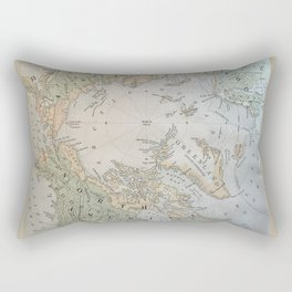 North Pole antique map 1800s Rectangular Pillow
