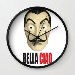 Dalí Mask La Casa de Papel Bella Ciao Wall Clock
