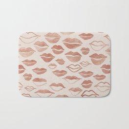 line art lovers lips painting Bath Mat
