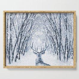 Winter deer Serving Tray