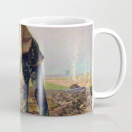 Jean-Francois Millet - Man With A Hoe - Digital Remastered Edition Coffee Mug