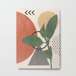 Nature Geometry III Metal Print