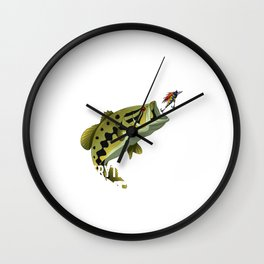 I Fish Largemouth Bass Everything Else Is Bait Wall Clock