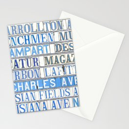 New Orleans Street Names Tile Art Word Typography Letters French Quarter Uptown Marigny Stationery Cards