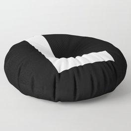 Letter L (White & Black) Floor Pillow