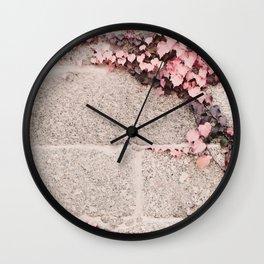 Pink Ivy  Wall Clock