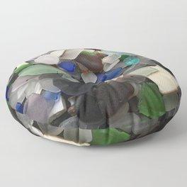 Sea Glass Assortment 1 Floor Pillow