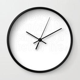 Bernese Mountain Dog, Bernese Mountain Dog Gift Tee Wall Clock