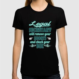 """""""Legal Secretary"""" tee designs for cute and adorable design lovers out there! Go them them now!  T-shirt"""