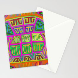 San Blas Indian Kuna Abstract Stationery Cards