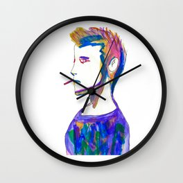 Jonah- Water Color Painting Wall Clock