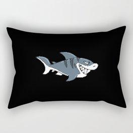 Shark In Pixel Art Style For Children Rectangular Pillow