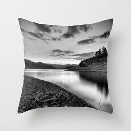 """""""Silver Lake At Sunset"""". Bw Throw Pillow"""