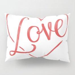 Love Heart Lettering Pillow Sham