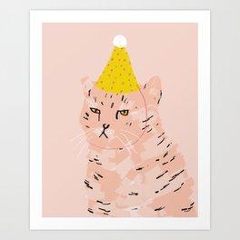 Party Cat Kunstdrucke