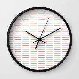 Hand drawn pick up stick shape stripes Wall Clock