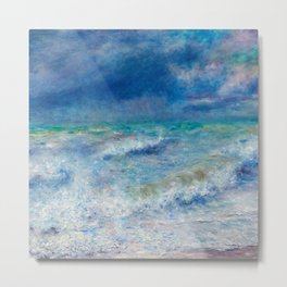 Seascape Ocean Blue Colors Metal Print