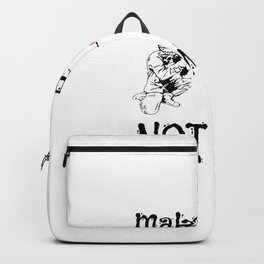 Cute Make Peace Not War Soldier Shooting Hearts Backpack