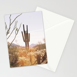 cactus in the desert Stationery Cards