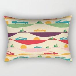 50s Retro Road Trip Beige #midcenturymodern Rectangular Pillow