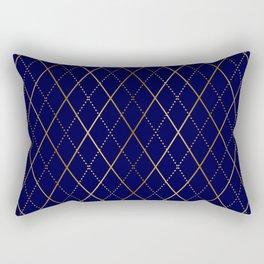 Argyle (Navy) Rectangular Pillow