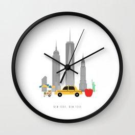 New York City, NYC Skyline Wall Clock