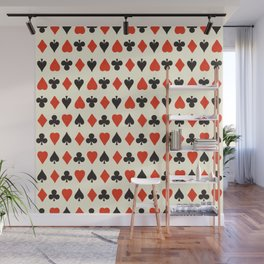Vintage card game illustration pattern Wall Mural