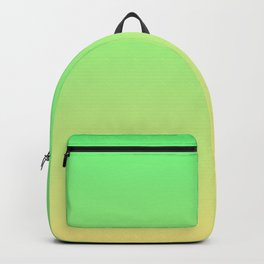 Green to Yellow Ombre Shaded Lime to Lemon Sorbet Ice Cream Gelato Backpack