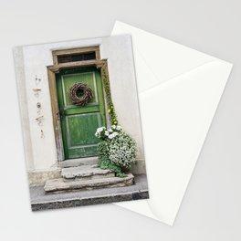 Rustic Wooden Village Door - Austria Stationery Cards