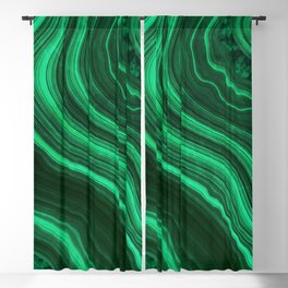 Malachite Texture 08 Blackout Curtain