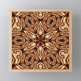 Fractal Filament Blast Pattern Framed Mini Art Print