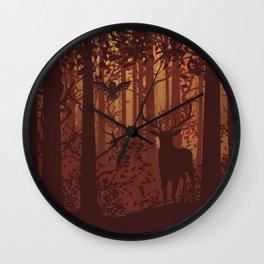 Autumn Deer Wall Clock