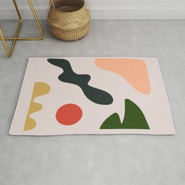 Pastel Shapes Modernism Rug