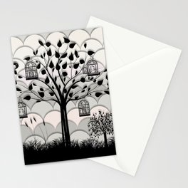 Paper landscape B&W Stationery Cards
