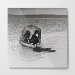 Nothing but tan lines, ocean, & beach female form black and white photography Metal Print