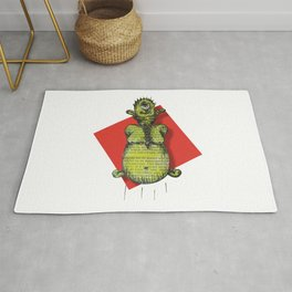 A Green Cyclop Monster Levitating Rug