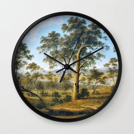 Launceston And The River Tamar - John Glover Wall Clock