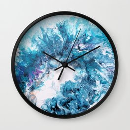 A trip to the seashore watching the waves Wall Clock