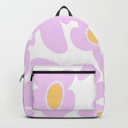 Pink Retro Flowers on White Background #decor #society6 #buyart Backpack